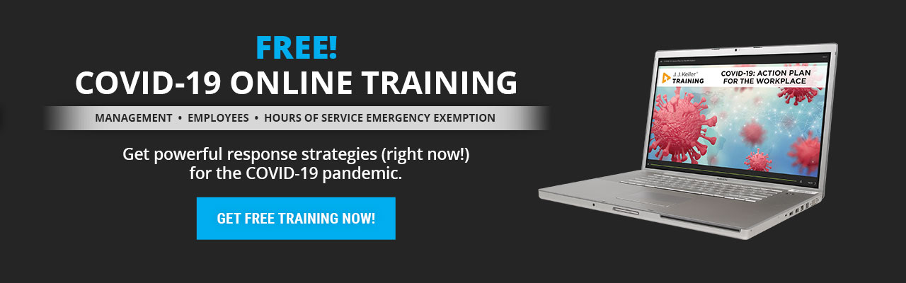 Get response strategies for the COVID-19 pandemic with the NEW COVID-19 online training course.
